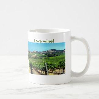 Mug photographie verte de vignoble