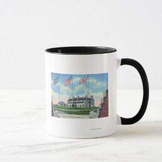 Mug Pièce de commandant dans le vieux château français