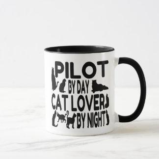 Mug Pilote d'amoureux des chats
