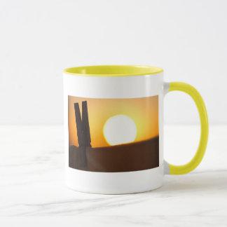Mug Pince à linge au lever de soleil