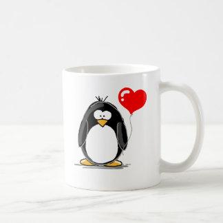Mug Pingouin avec un ballon de coeur