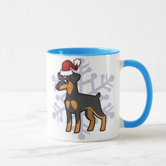 Mug Pinscher miniature de Noël/Manchester Terrier