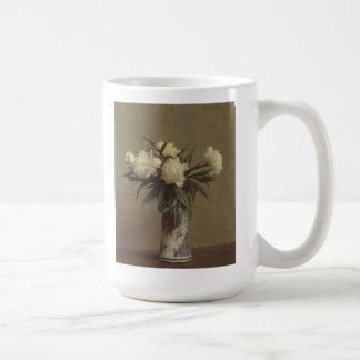 Mug Pivoines dans un vase bleu et blanc