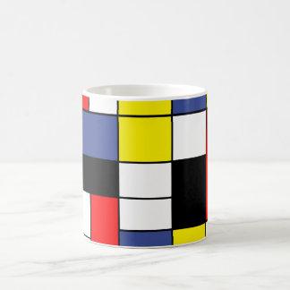 Mug PixDezines Mondrian, minimaliste