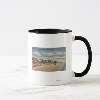 Mug Plage de Neptune, FL - vue des maisons de bord de