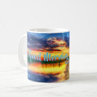 Mug Plage tropicale de Sandy de lever de soleil