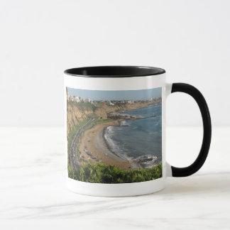 Mug Plage verte de côte au Lima-Pérou