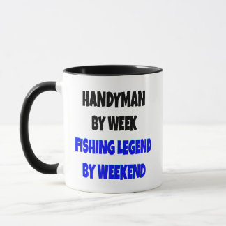 Mug Plaisanterie de légende de pêche de bricoleur