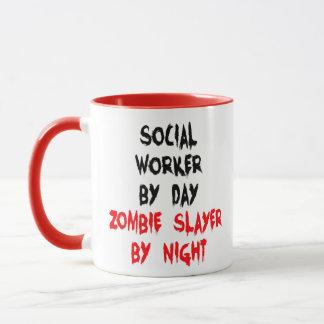 Mug Plaisanterie de zombi d'assistant social