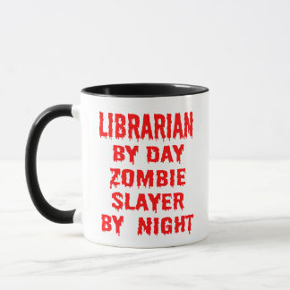 Mug Plaisanterie de zombi de bibliothécaire