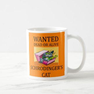 Mug plaisanterie du chat des schrodinger, plaisanterie