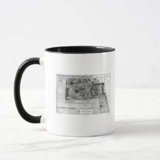 Mug Plan de Parc Monceau à Paris