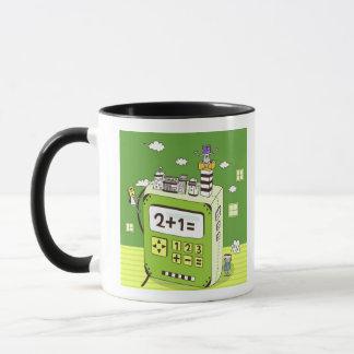 Mug Plan rapproché des bâtiments sur une calculatrice