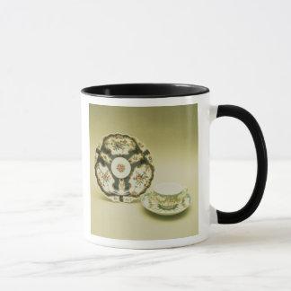 Mug Plat de porcelaine de Worcester avec la décoration