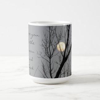 Mug Pleine lune et arbre, je t'aime à la lune et au