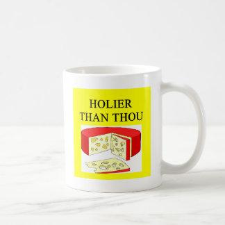 Mug plus saint que la plaisanterie de fromage suisse