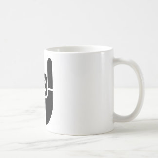 Mug Pochoir de main de roche