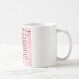 Mug Poème de belle-fille - 30ème anniversaire