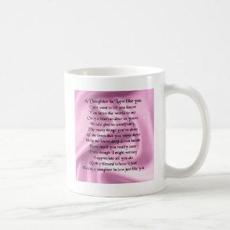 Mug Poème de belle-fille - soie rose