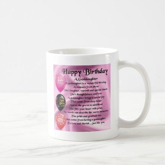 Mug Poème De Filleule Joyeux Anniversaire