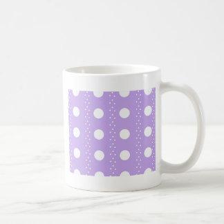 Mug Point de polka blanc sur le pourpre