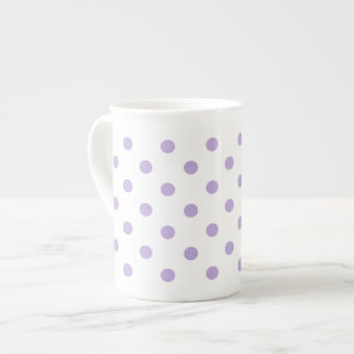 Mug Point de polka de lavande de cottage