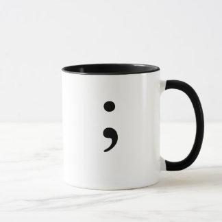 Mug Point-virgule (B&W)