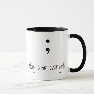 Mug Point-virgule (B&W) - (mon histoire n'est pas