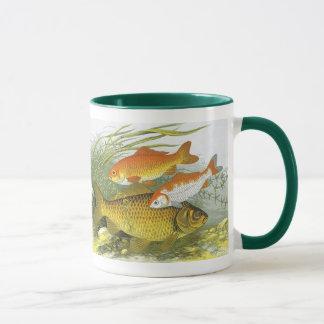Mug Poissons aquatiques vintages de Koi de poisson