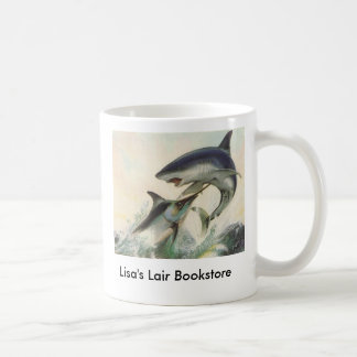 Mug Poissons - promo de librairie de Marlin noir et de