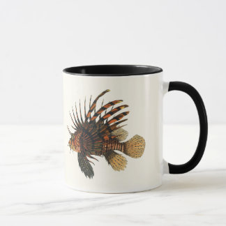Mug Poissons vintages de Lionfish, animal marin de la
