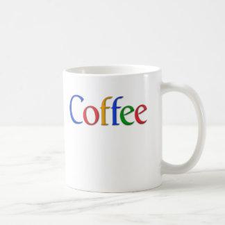 Mug police de google de café