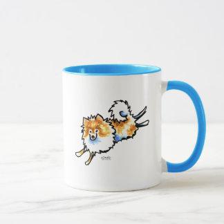 Mug Pomeranian blanc orange mignon