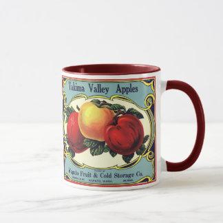 Mug Pommes vintages de vallée de Yakima d'art