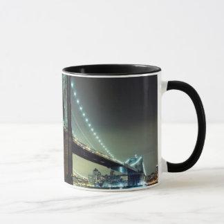Mug Pont de Brooklyn au pont de Manhattan de nuit
