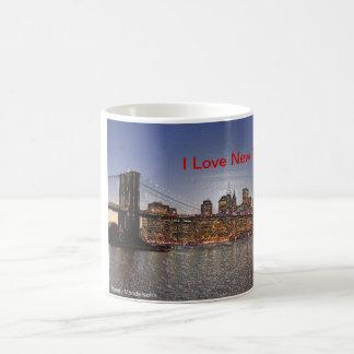 Mug Pont de Brooklyn avec l'horizon de New York City
