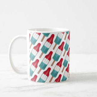 Mug Popsicle bleu blanc rouge patriotique Etats-Unis
