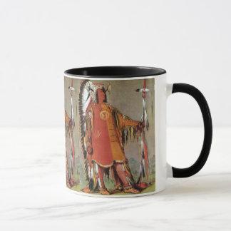 Mug Portait de chef indien Mato-Tope par George Catlin