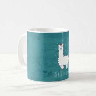 """Mug """"Portée illustration douce de lama pour étoiles"""""""