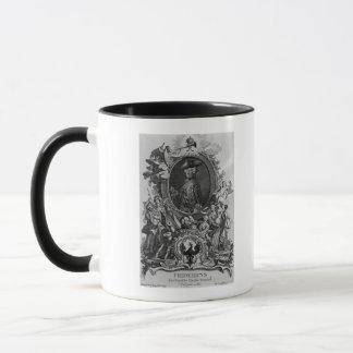 Mug Portrait de Frederick II, gravé par Johann