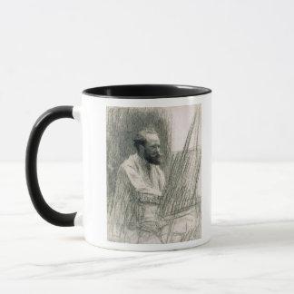 Mug Portrait de Manet   d'Edouard Manet à son chevalet