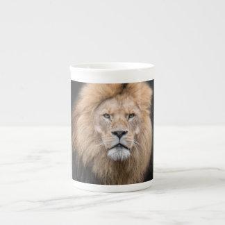 Mug Portrait de plan rapproché d'un lion masculin