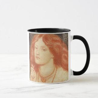 Mug Portrait d'Elizabeth Siddal (1834-62), 1860 (rouge