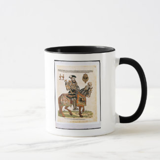 Mug Portrait équestre de Charles V dans l'armure