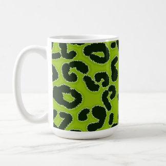 Mug Poster de animal vert pomme de léopard