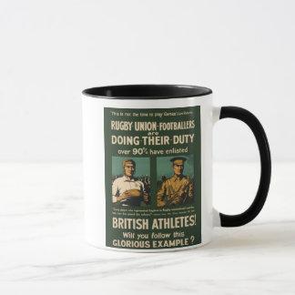 Mug Poster vintage : Appel de joueurs de rugby pour le