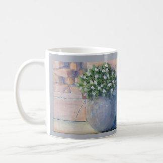 Mug Pot de fleur bleu