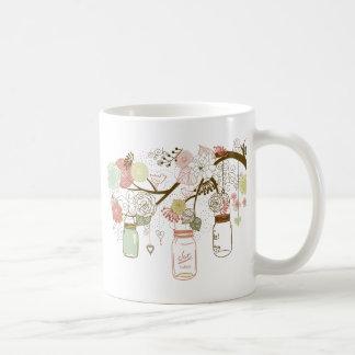Mug Pots de maçon et jolies fleurs