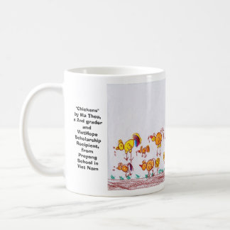 "Mug ""Poulets"" par mA Theu, 2ème niveleuse"