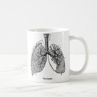 Mug Poumons médicaux de rétro anatomie vintage de